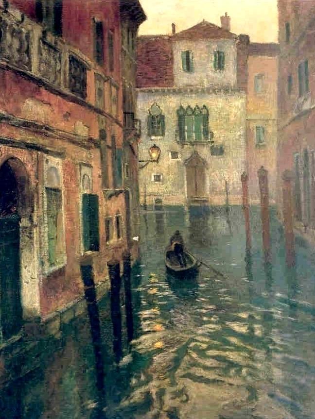 Fritz Thaulow - On Canal.jpg